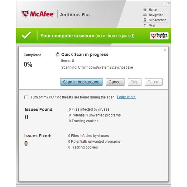 McAfee Scanner