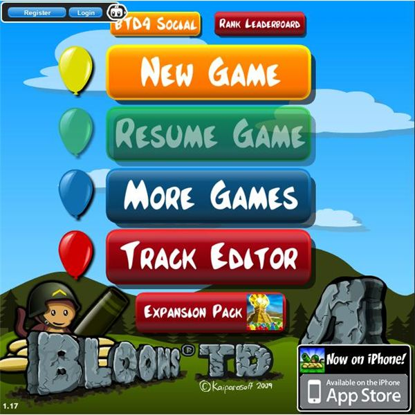 Bloons Tower Defense 4 Cheats
