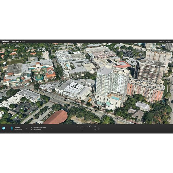 nokia maps 3D miami