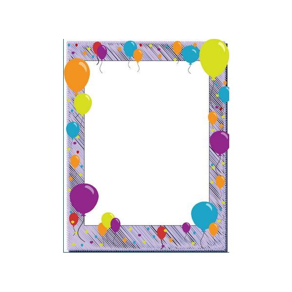 Confetti & Balloons Birthday Border