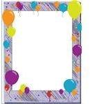 Confetti & Balloons Birthday Border