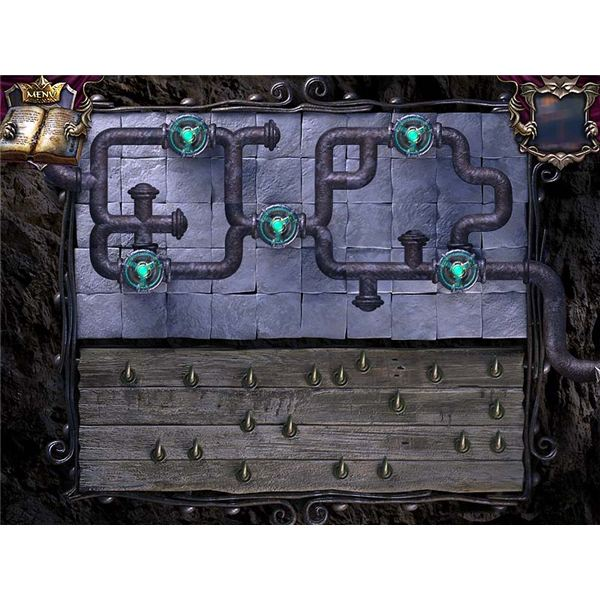 Pipe Puzzle by garden fountain grate