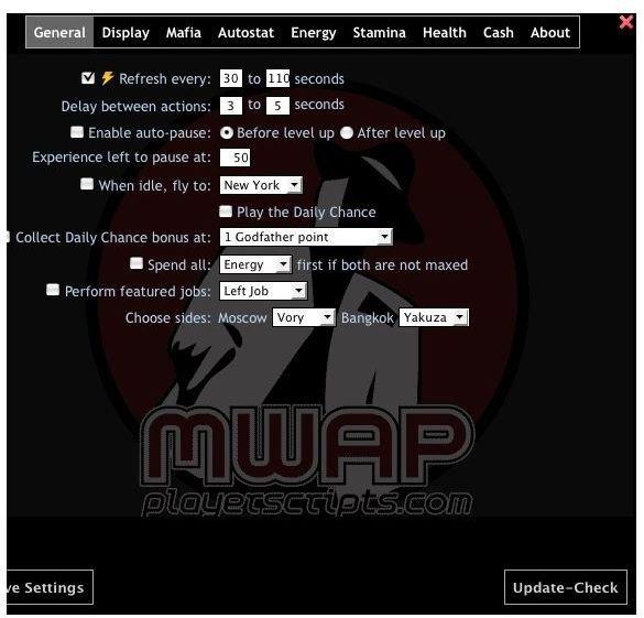 autoplayer settings