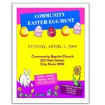 MS Publisher Easter Egg Hunt Flyer