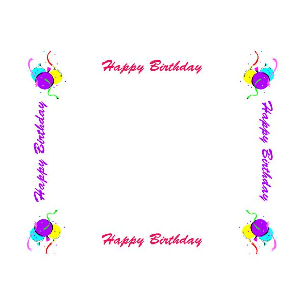 Happy Birthday Greeting Border
