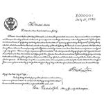 First US Patent - Image from Wikipedia Commons in Public Domain