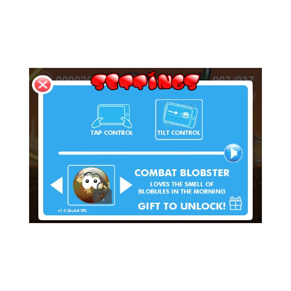 Blobster controls
