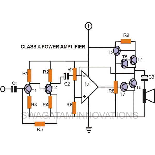 how to make a diy class a amplifier  simple construction using circuit schematic explained