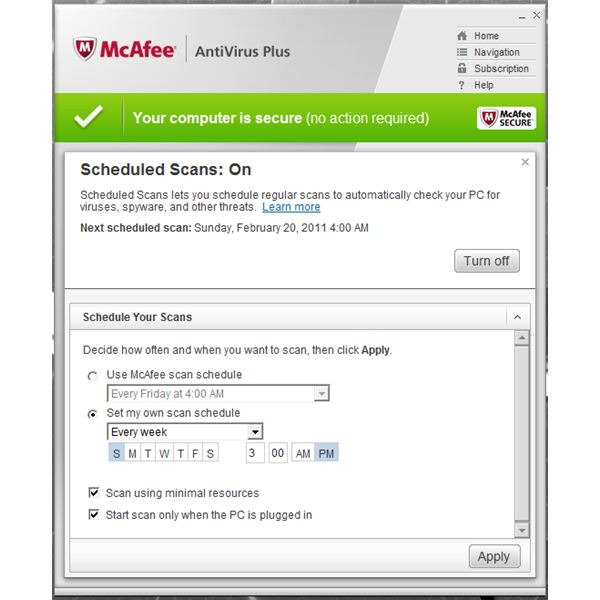 A Guide To Setup Mcafee Antivirus Plus 2011 Scans