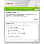 Options for McAfee Scheduled Scans