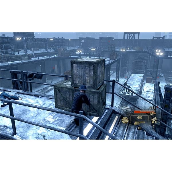 Alpha Protocol Walkthrough - Moscow Train Yard - A Very Bad Situation After Alerting the Gunner
