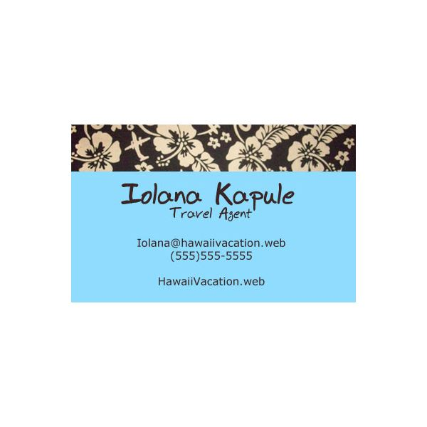 Helpful tips examples for travel agent business cards hawaiian vacation themed business card reheart Image collections