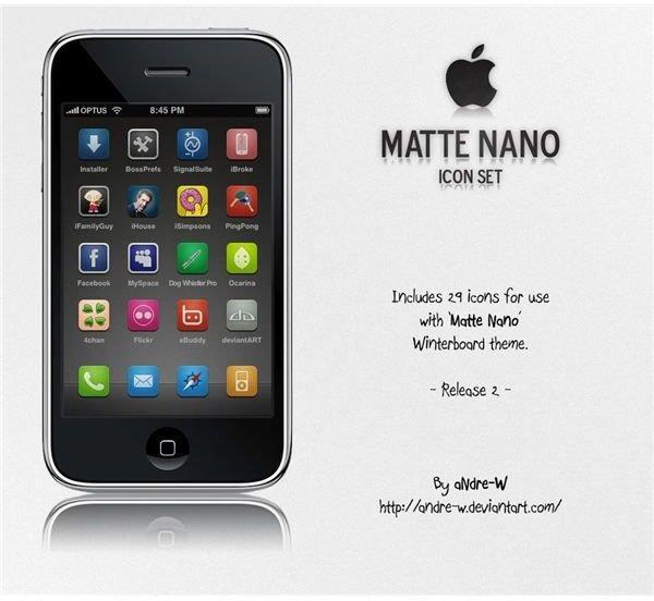 Matte Nano iPhone Icon Set