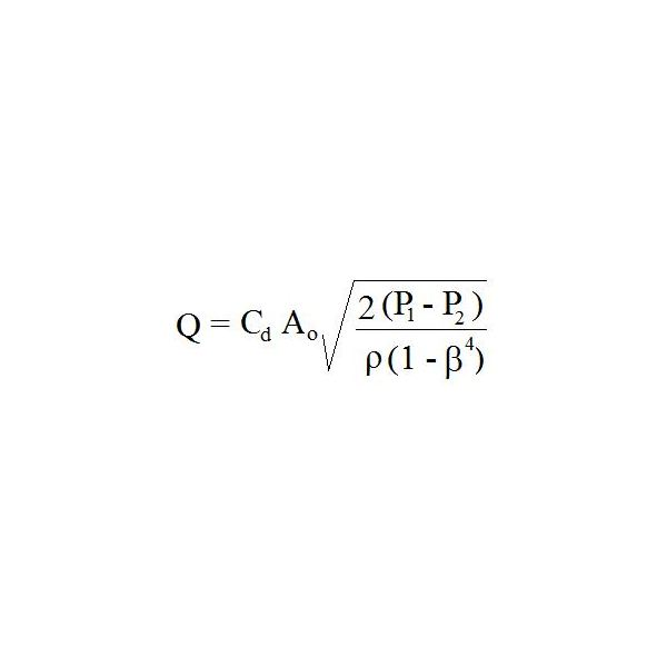 Orifice meter equation