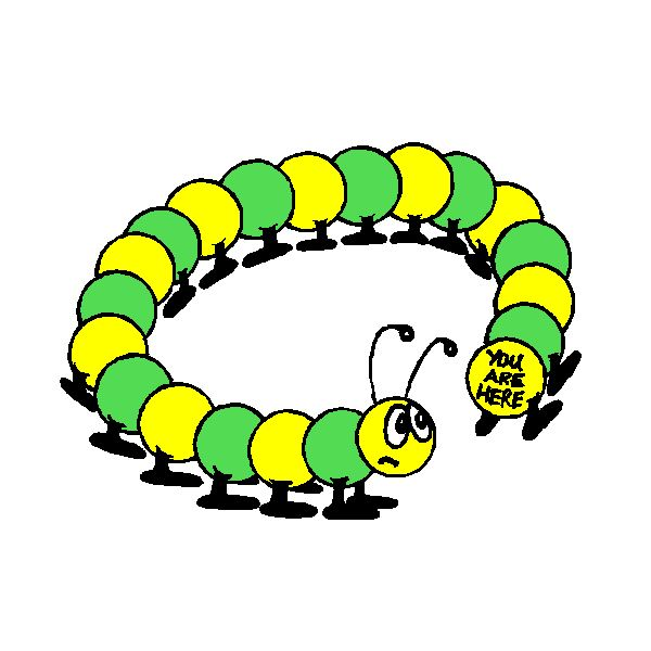 Caterpillar from Microsoft Clipart