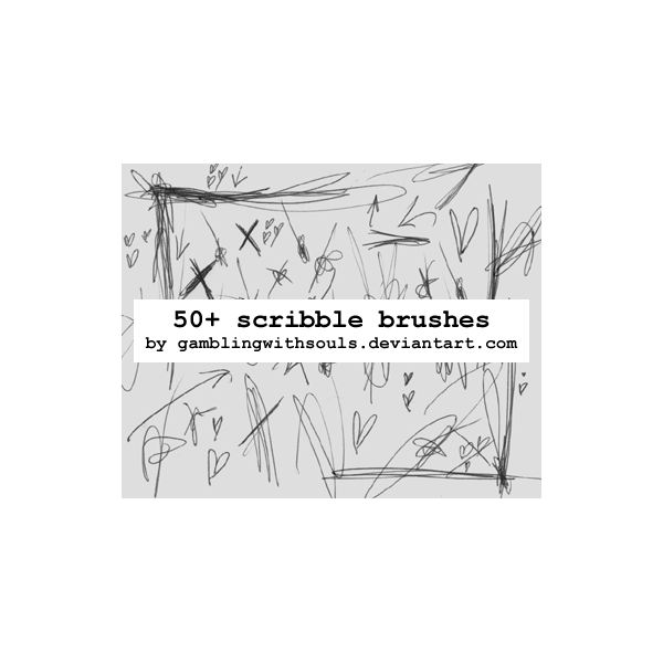 Scribble Brushes 02 by gamblingwithsouls