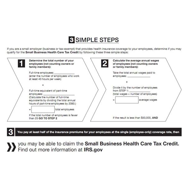Screenshot IRS Health Care Tax Credit Fact Sheet