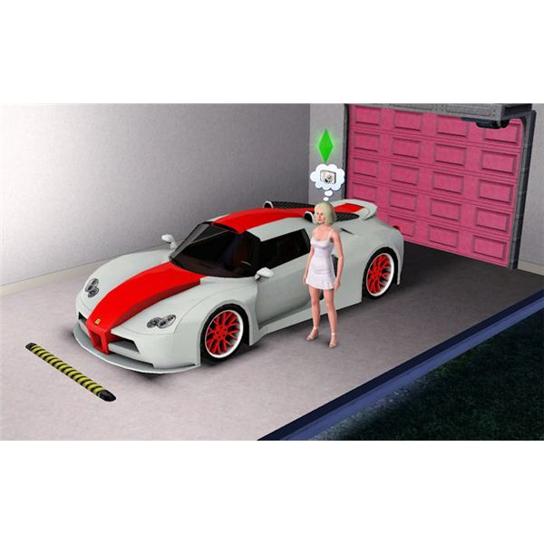 The Sims 3 midlife crisis new car