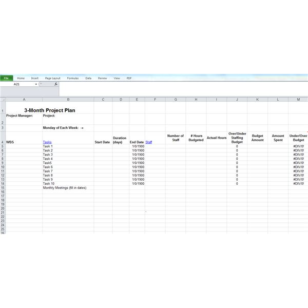 WBS in an Excel Project Planning Form (by Linda Richter)