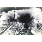 An oil tanker in Typhoon Judy in Seas of Japan, from Liverpoolmuseums.org 1963