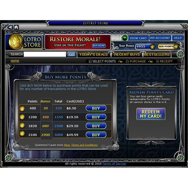 Lotro Store Pricing