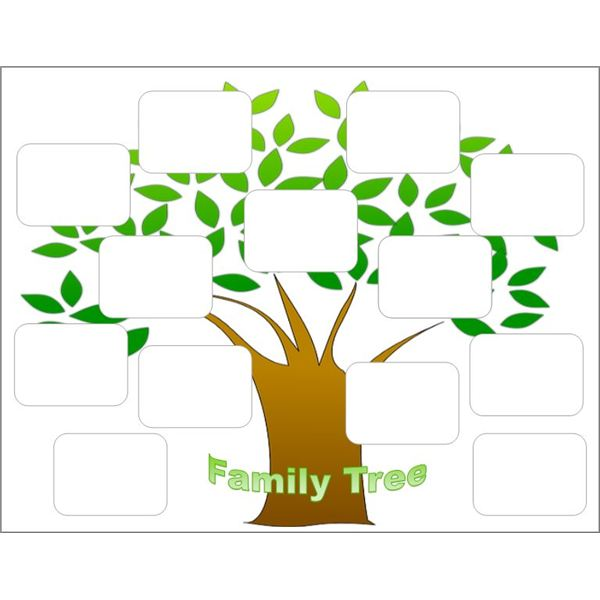 Create a family tree with the help of these free templates for Plain family tree template