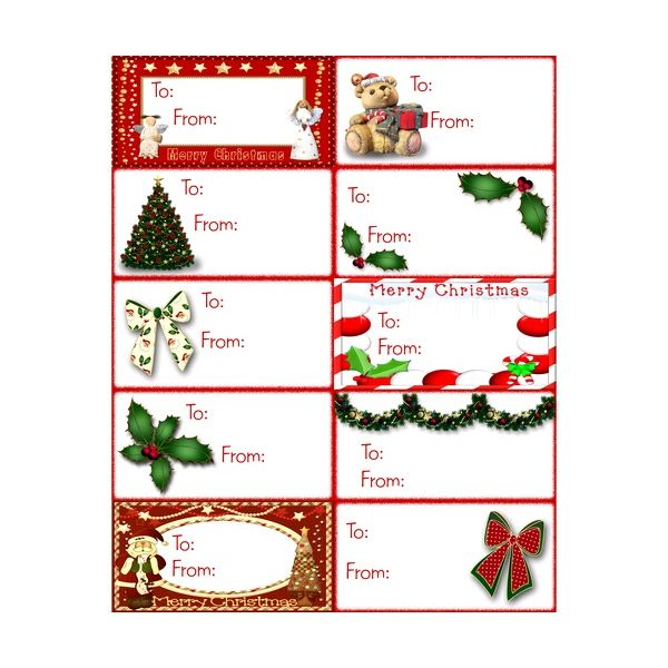 Free name tags for christmas gifts