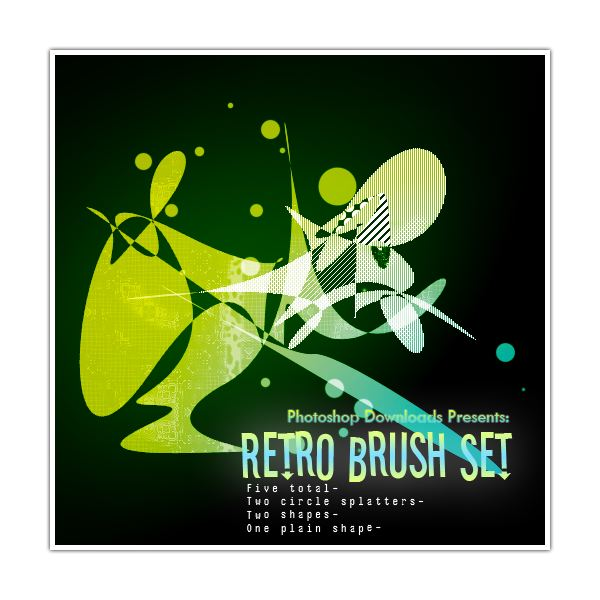 Retro Brush Set by PhotoshopCS2DOWNLOAD