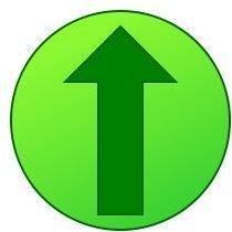 Up arrow green svg Wikimedia Commons