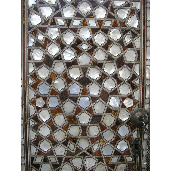 A mother-of-pearl door adorns the quarters of the Queen Mother, or Valide, in the Topkapi harem.