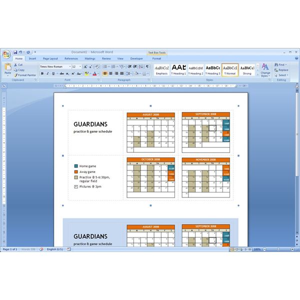 a pocket calendar template microsoft word