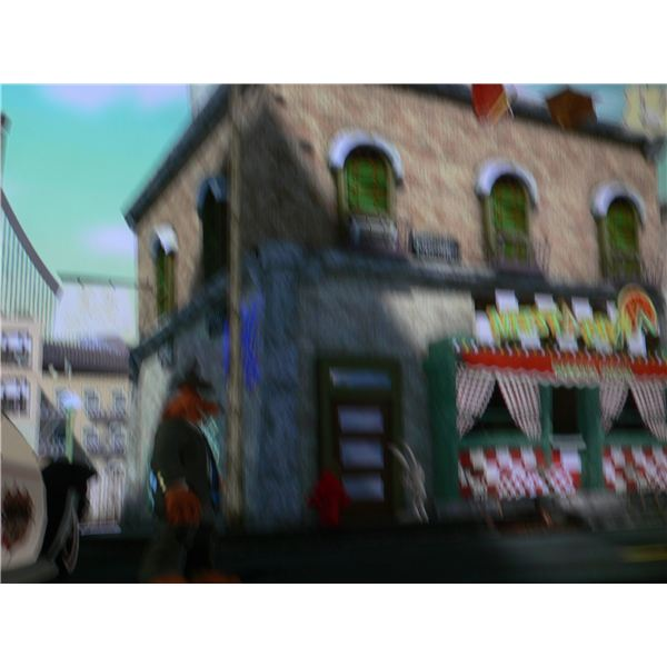 Sam and Max: The Penal Zone Game Walkthrough - Outside Meesta Pizza.