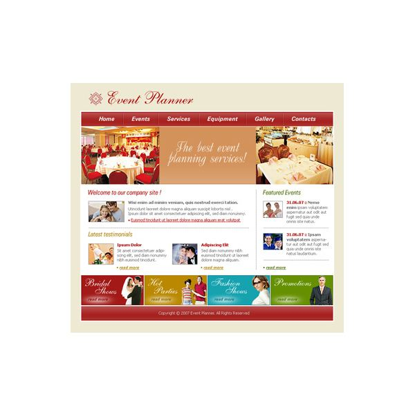 Event Planner - Free Template #83