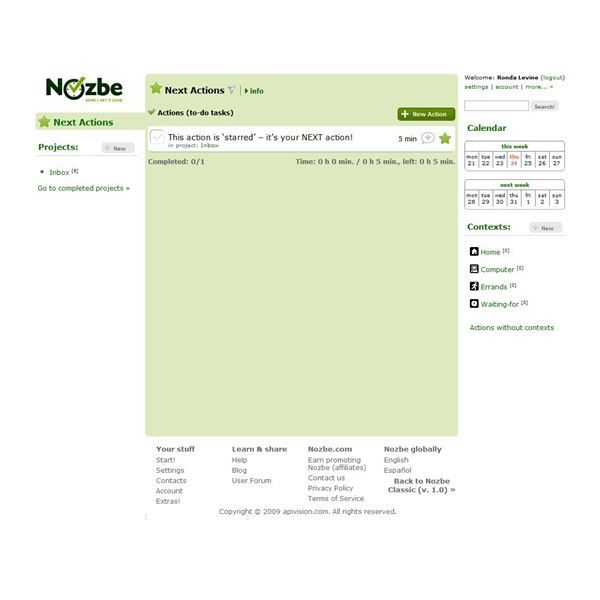 Nozbe helps you to organize project tasks