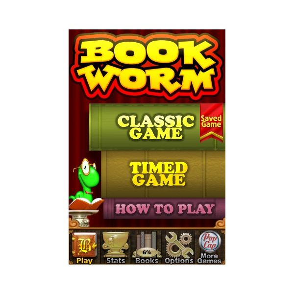 Bookworm Game Title Page