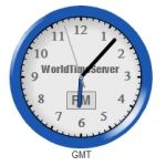 A screen shot of a clock extension available for Joomla