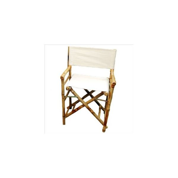 Low Bamboo Director's Chair