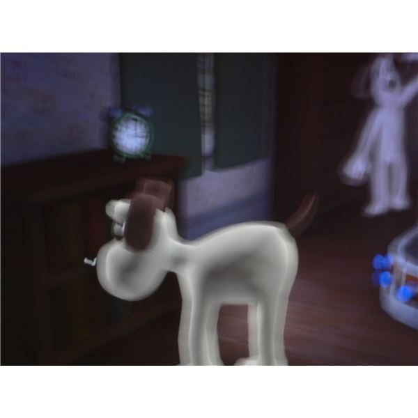 Wallace and Gromit: The Last Resort review - Gromit snooping around upstairs.