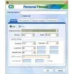 Firewall tweak screen
