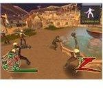 The Destiny of Zorro sword fighting skeletons