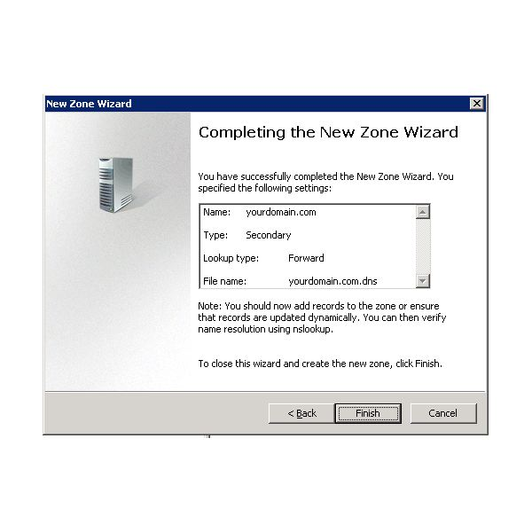 Windows DNS Server Zone
