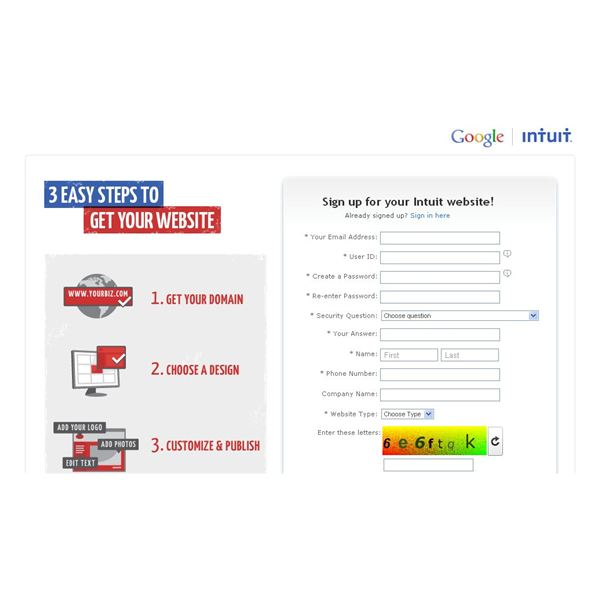 Screenshot 3 Easy Steps to Get Your Website from Google Intuit