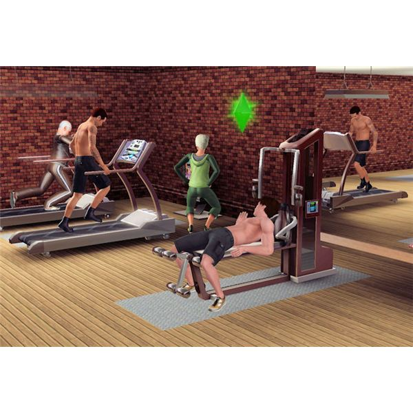 The Sims 3 at gym