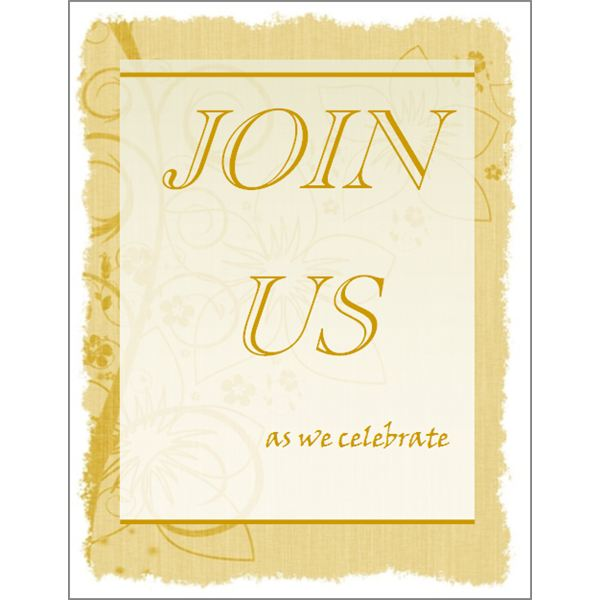 formal blank invitation
