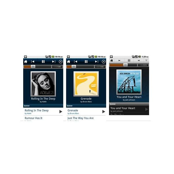 Top 4 HTC Droid Incredible Music Apps