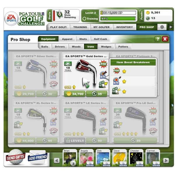 Facebook Game Reviews: EA Sports PGA Tour Golf Challenge
