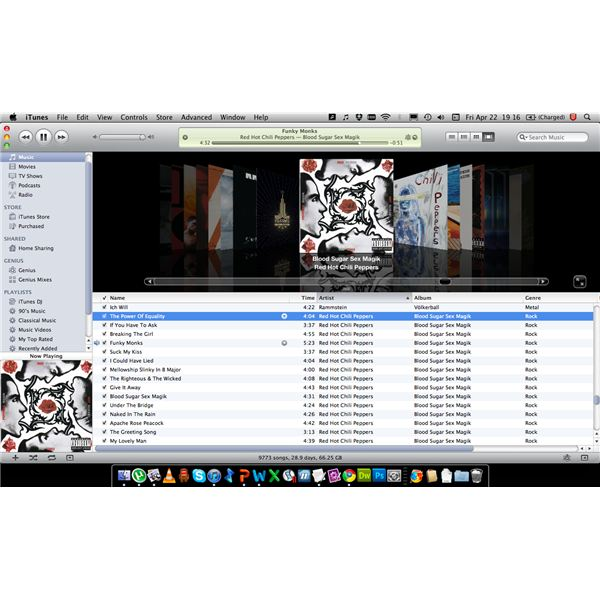 Screen shot of iTunes 10.2.2 for Mac