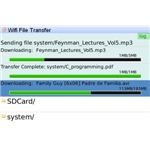 WiFi File Transfer - Transfer Size Remaining Screenshot - Blackberry Smartphones