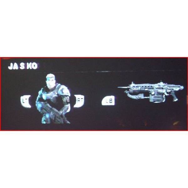 Gears of War 2 Gear and Weapon Selection