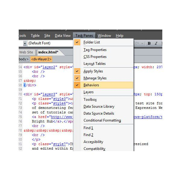 How to Create a Drop Down Box in Expression Web Using Jump Menus